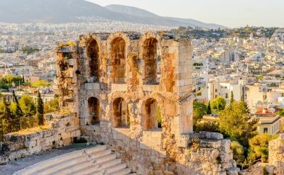Amphitheater of the Acropolis of Athens. UNESCO World Hetiage site.