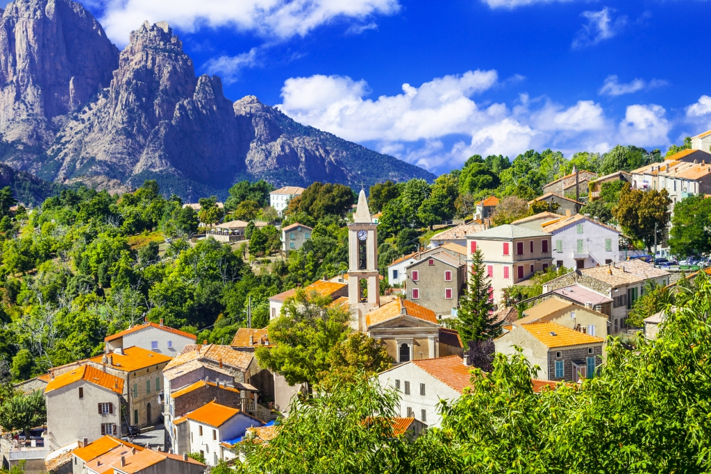 Evisa -pictorial mountain village in Corsica