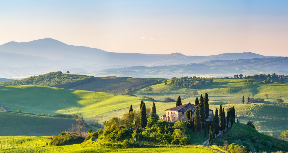 Beautiful landscape in Tuscany, Italy