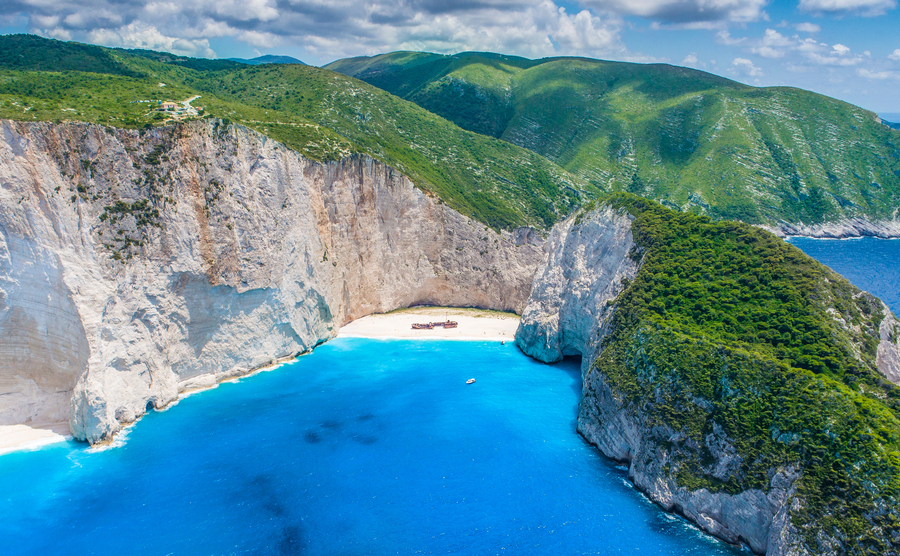 Shipwreck bay, Navagio - Zakynthos, Greece - The world famous, amazing beach