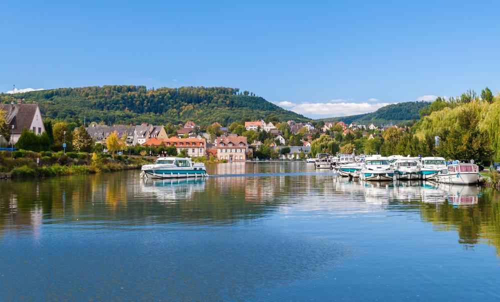 River port in Saverne, Alsase, France