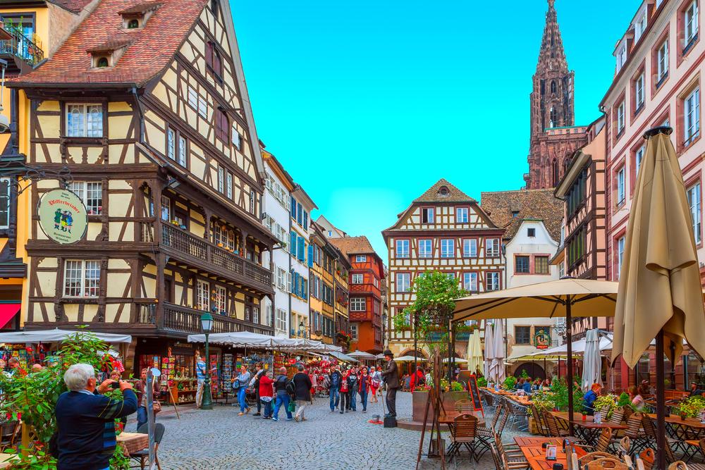 STRASBOURG. FRANCE - 26 JUNE 2013. Streets of Strasbourg