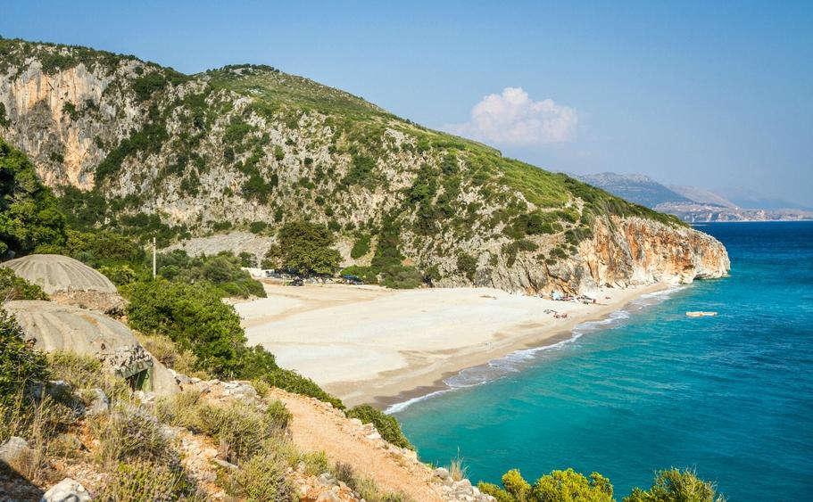 View of Gjipe beach Albania