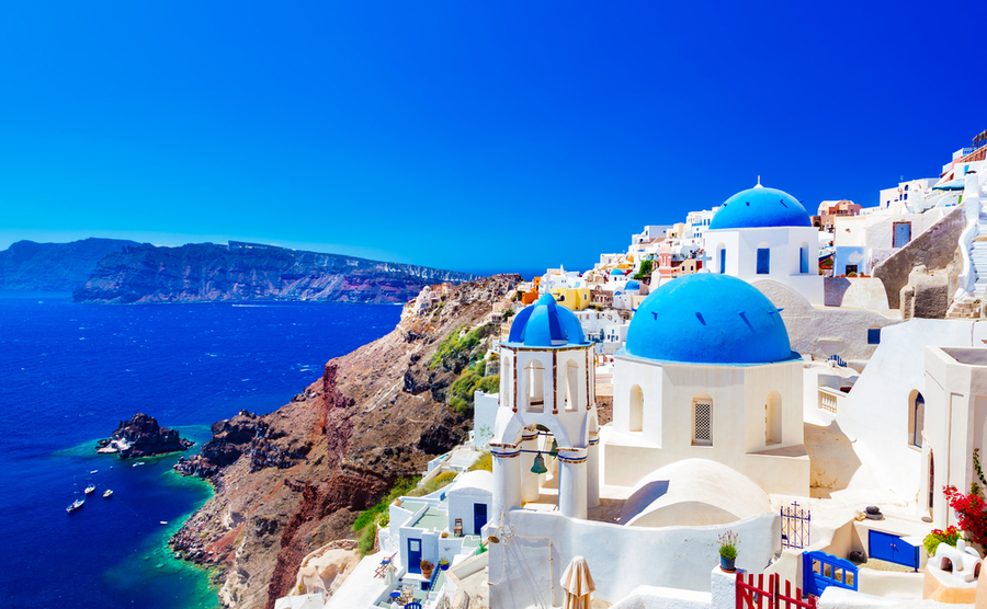 Santorini is one of the most iconic Mediterranean islands.