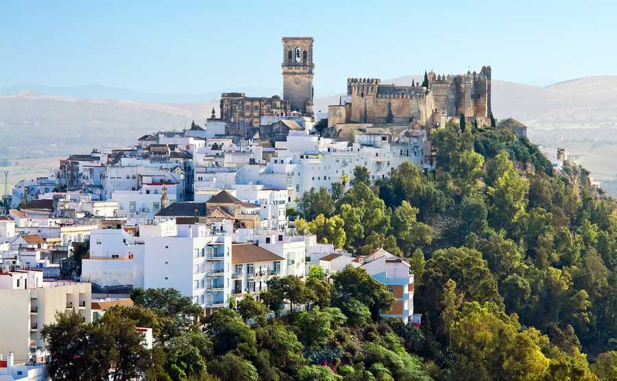 The whitewashed pueblos blancos, like Arcos de la Frontera, are iconic of Andalusia.