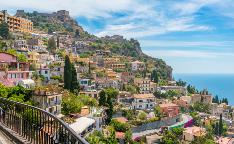 Taormina is one of the most beautiful small towns in Sicily to live in.
