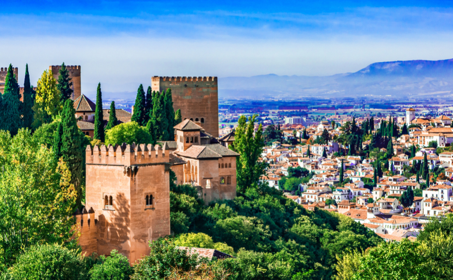 A view over the city of Granada in beautiful Andalusia.