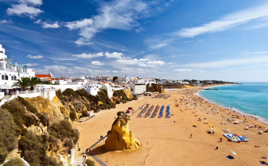 Albufeira is one of the best areas to buy a beach home in Portugal.