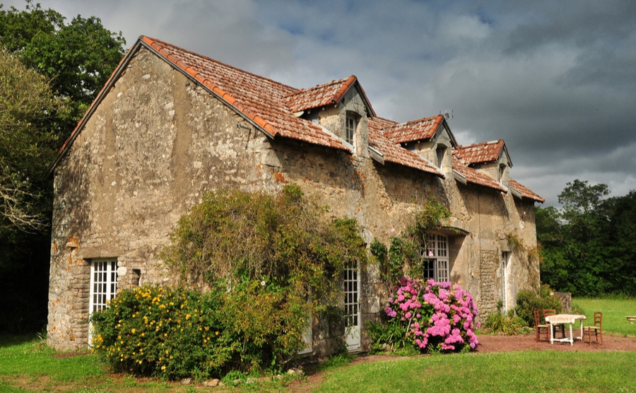 A converted longère in Brittany.