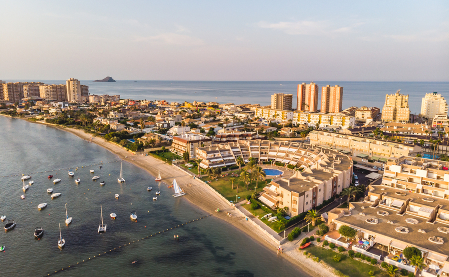 La Manga is a popular strip running between the Mediterranean and Mar Menor.