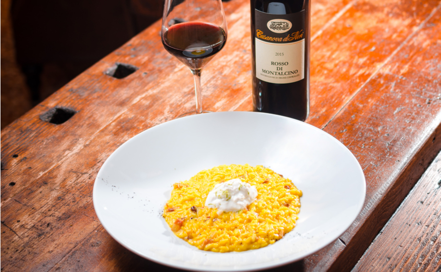 Milanese risotto, made with saffron, is emblematic of this elegant northern city. Stefan Paun / Shutterstock.com