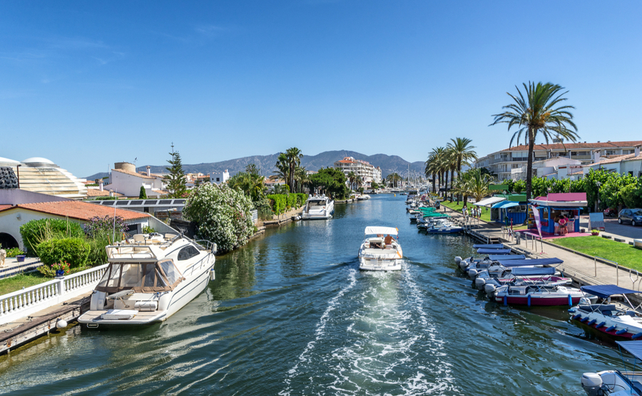 Empuriabrava boasts the largest residential marina in Europe.