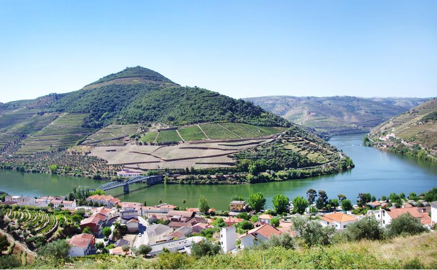 Pinhão offers fantastic views over the river and hillsides.