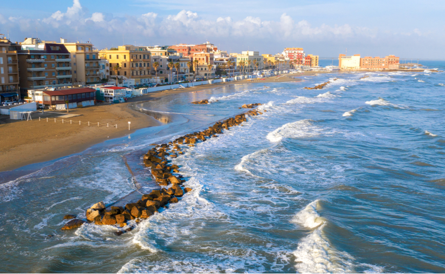 Anzio is popular for its beach and easy access to Rome.