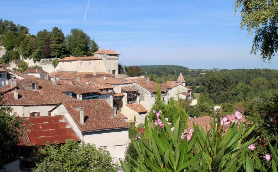 The hillside of Aubeterre.
