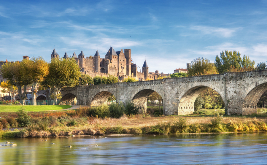 The iconic skyline of Carcassonne's citadel.